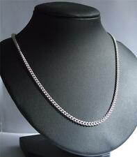 Heavy Hallmarked Sterling Silver 2.5mm Curb Chain Necklace  22 or 24 Inch long