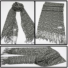 Animal print 100% Pashmina Cashmere shawl scarf wrap stole neck warmer