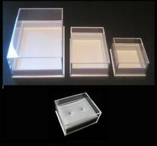 Pack of 10 Plastic Storage/Display Boxes-large medium small with or without pads