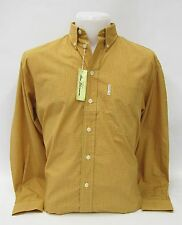 Ben Sherman Langarmhemd kariert Gelb / Orange #5191