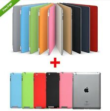 IPAD 2 3 4 SMART COVER WITH CASE AUTO ON OFF MAGNETIC SENSOR, 100% POLYURETHANE
