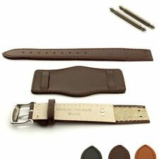 Open-Ended Military Genuine Leather Watch Strap Band Bund with Pad Ss. Buckle
