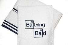'Bathing Bad' 100% Cotton Bath & Hand Towel Set, Fan of Breaking Bad, Bathroom