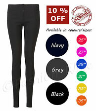 Black Zip Super Skinny Black Size 4,6,8,10,12,14,16 Inside Leg 25 27 29 31 33 35