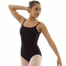 Capezio Rib Back Camisole Ballet Dance Leotard Cotton Lycra Ladies Adults CC120