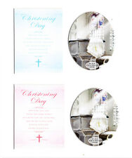 "Christening Day Keepsake Photo Frame Scrap Book Album Mount 10"" x 8"" Girl & Boy"