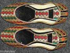 Thread Embroidered hand made punjabi jutti shoes bridal wear PJ9717