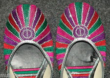 Thread Embroidered hand made punjabi jutti shoes bridal wear PJ9718