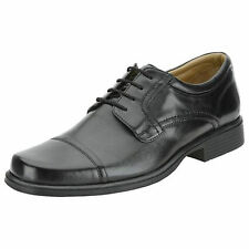Mens Clarks Black Leather Lace Up Formal Oxford Shoes G Fitting HOLD CAP
