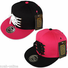 NEW LACED TWO TONE SNAPBACK STATE PROPERTY BASEBALL CAP FLAT PEAK HAT SHOE LACES