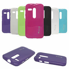 Flexible Soft TPU Back Cover Case for Motorola Moto G XT1032 + Screen Protector