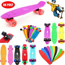 "22"" Mini Retro Skateboard Skate Boards Longboard Complete Board Vintage Cruiser"