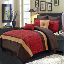 Atlantis Red Luxury 8-Piece Bed in a Bag Bedding Set (Available in 5 Sizes)