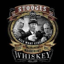 Three Stooges T Shirt Moonshine Whiskey Drinking Funny Small to 6XL Big Tall