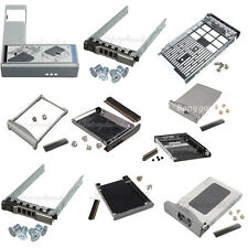 """2.5"""" 3.5"""" SAS SATA HDD Hard Drive Caddy Cover Tray Connector + Screws for Dell"""