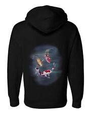 Airbrushed Koi Carp Hoody Japanese Pond Fish sizes  kids to Adult Sizes