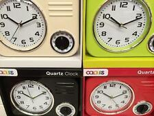 BNIB Quartz retro wall clock Lime Green , Red, Black or Cream