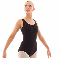 Bloch Adagio Tank Ballet Dance Leotard Cotton Sleeveless Ladies Adults L5415