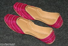 Magenta Beaded hand made punjabi jutti shoes bridal wear PJ9725