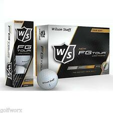 NEW WILSON FG TOUR URETHANE GOLF BALLS (CHOOSE DOZEN)