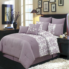 Bliss Purple Luxury 8-Piece Comforter Set (Available in 5 Sizes)