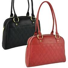 NEW Ladies Soft LEATHER Shoulder HANDBAG GiGi Othello Collection Quilted Womens