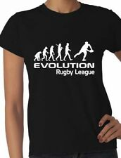 Evolution Of Rugby League Rugby  Gift Ladies T Shirt  Size S-XXL