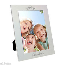 ALUMINIUM PHOTO FRAME PICK FROM 4 DESIGNS GRANDMA I LOVE YOU MUM SISTER FREE P&P