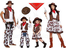 CHILDREN'S MENS LADIES COWBOY COWGIRL SHERIFF THEME COSTUME WILD FANCY DRESS