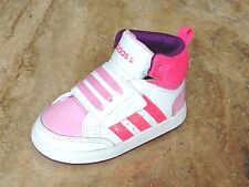17e523e62df Adidas Infant Kids Girls Toddler VLNEO Hoops CMF Mid Shoes UK Sizes 5 New