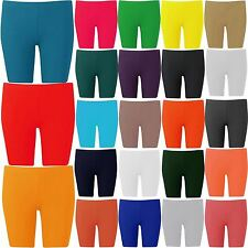 New Womens Plus Size Over Knee Plain Jersey Cycling Shorts 16-26