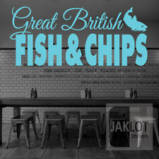 GREAT BRITISH FISH AND CHIPS - Vinyl Window / Wall Sticker, Shops Restaurants