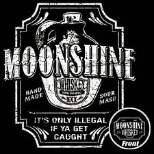 Moonshine T Shirt Whiskey Drinking White Lightning In A Jug S to 6XL and Tall