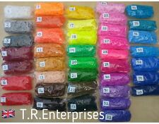 CHOOSE FROM 41 COLOURS in drop down menu   PACKS 600 LOOM BANDS / 24 clips