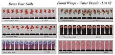 Water Decals - FLOWER Transfer  Sheets - Full Nail Cover FLORAL Wrap - List #2