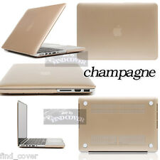 Gold Frosted Matte Rubberized Hardshell Case Apple MacBook Air/Pro/Pro Retina