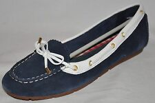 SPERRY TOP-SIDER Isla Navy & White Suede Loafers Mocs Size 5.5M or 8.5M NEW!