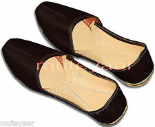Plain Dark Brown Hand Made Patiala Punjabi Jutti Desi Shoes for Men PJ9740