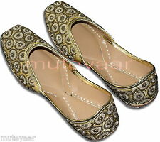 Dabka Work Hand Emroidered hand made punjabi jutti shoes bridal wear PJ9743