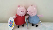 "PELUCHE ""PEPPA PIG""  Peppa e George - 15cm High Quality"