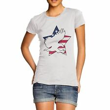 Women's American Flag Star And Eagle T-Shirt