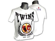 TWINS Muay Thai T-Shirt, TS-9/1, weiß, MMA, Muay Thai, Trainingsshirt