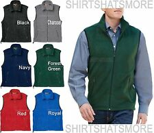 Mens Soft Polar Fleece Vest Sleeveless Jacket Warm Winter Coat S-2XL 3XL 4XL NEW
