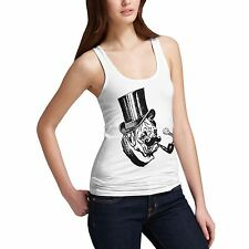 Women's Gentleman Pug Dog Funny Premium Cotton Tank Top