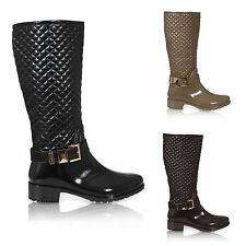 WOMENS LADIES WELLIES WELLINGTON RAIN KNEE HIGH WELLY BOOTS SHOES SIZE