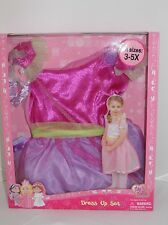Girls Pretty Fairy Fancy Dress Up Set Dress & Matching Armband 3-5 or 5-7 Years