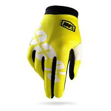 100% I-Track Neon Gloves Yellow/White - Mountain Bike Enduro Trail MTB XC MTB