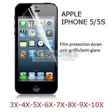 LOT FILM PROTECTION PROTECTEUR ECRAN APPLE IPHONE 5 5S SCREEN PROTECTOR BESCHERM
