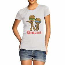 Women Cotton Novelty Cookie Theme Gift Ginjas Ninja Gingerbread Print T-Shirt