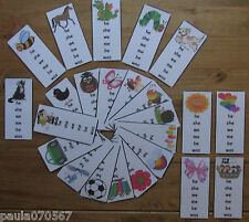 BESPOKE Children's bookmarks for learning words, 24 designs ( choose the words )